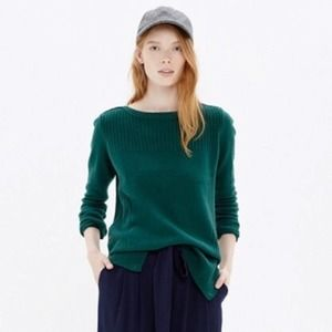 Madewell pinewood ribbed button side sweater